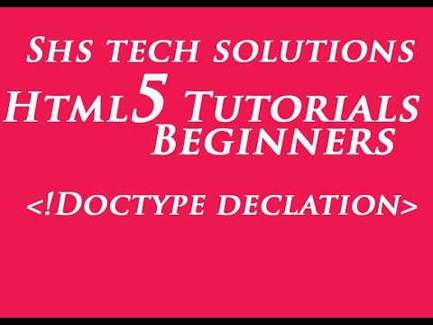 Html5 Tutorial For Beginners - 04 | DOCTYPE Html | DOCTYPE Declaration In Html