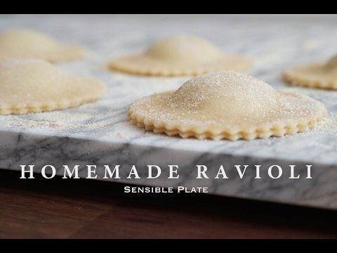 Homemade Vegan Ravioli with Pesto Cashew Cheese Filling | Sensible Plate