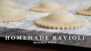Homemade Vegan Ravioli with Pesto Cashew Cheese Filling  Sensible Plate