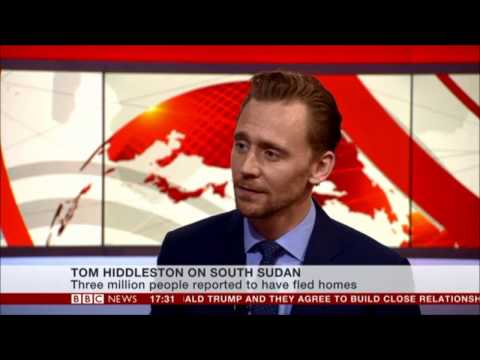 TOM HIDDLESTON ON UNICEF/SOUTH SUDAN 29.11.2016