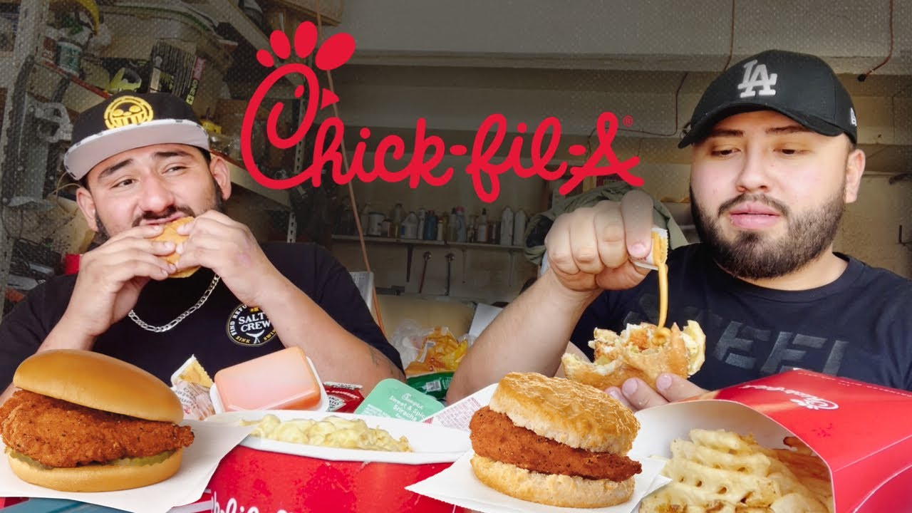 Chick Fil A MUKBANG with my cousin