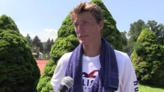 Petr Hájek po prohře ve 2. kole na turnaji Futures v Ústí n. O.