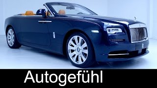 Premiere all-new Rolls Royce Dawn (Wraith Cabriolet) preview exterior interior & interviews
