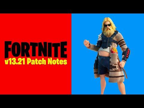 Fortnite V13.21 Patch Notes (New Fortnite Maintenance Update)