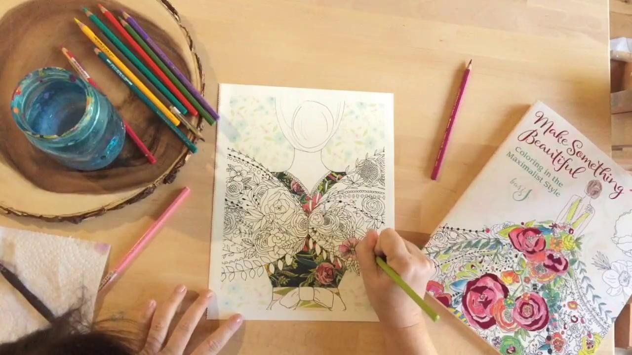 Watercolor paper coloring book - Watercolor Pencils In Make Something Beautiful Coloring Book