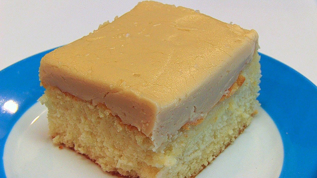 Betty's Salted Caramel Frosting for White Sheet Cake - YouTube