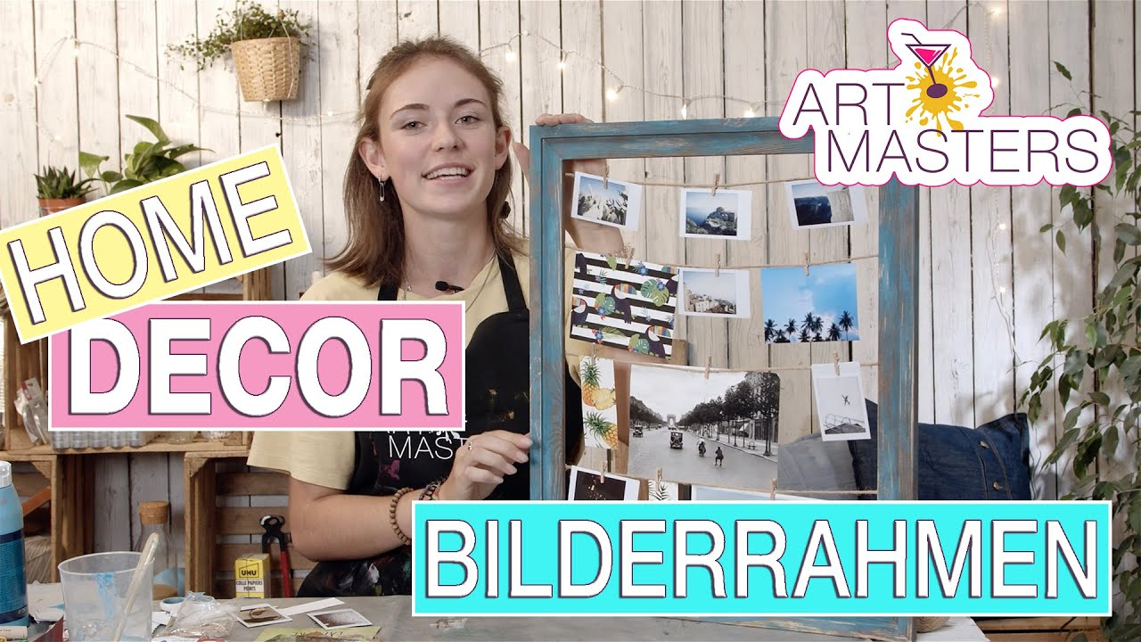 Bilderrahmen selber machen   Fotowand DIY   Upcycling Idee   Mach deinen  alten Rahmen zum Hingucker