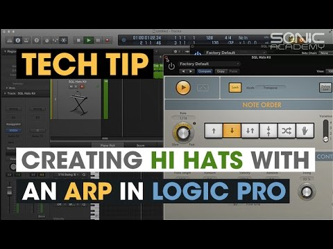 Tech Tip - Creating Hi Hats with an Arp in Logic Pro