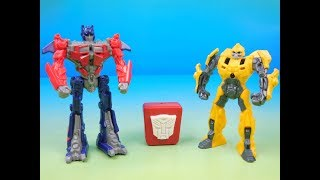 2011 TRANSFORMERS TALKING OPTIMUS PRIME and AWAKING BUMBLEBEE McDONALDS HAPPY MEAL TOYS VIDEO REVIEW