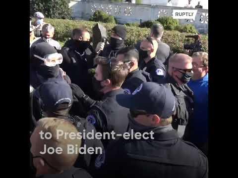 Scuffles and protests in DC, Trump insists 'I won the election'
