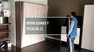 Camas plegables funcionales , Muebles funcionales a medida  en chile