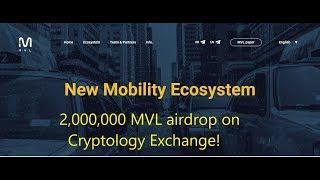 2,000,000 MVL airdrop on Cryptology Exchange!