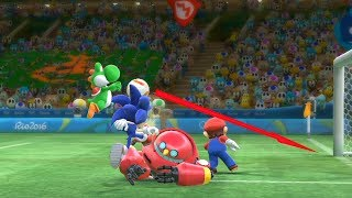 Mario and Sonic at The Rio 2016 Olympic Games  Football GamePlay  Team Sonic vs Team Tails