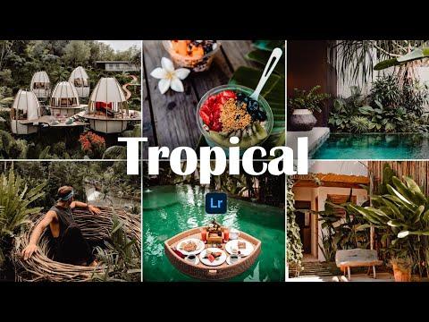 Tropical Preset - Lightroom Mobile Preset | How to Edit Tropical Photo | Bali Preset | Tropical Vibe