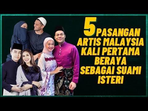 5 Pasangan Artis Malaysia Kali Pertama BerayaSebagai Suami Isteri