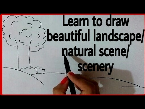 How To Draw A Landscape Draw Easy Natural Scene