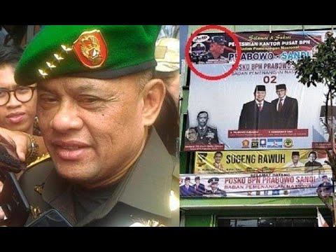 Gatot Nurmantyo Minta Fotonya di Posko Prabowo-Sandi Diturunkan