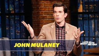 John Mulaney talks about his family history of politicians, and he shares pressing topics his grandma wants Seth to interview Congressman Seth Moulton about.