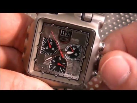 How To Reset Oakley Minute Machine Chronograph Hands