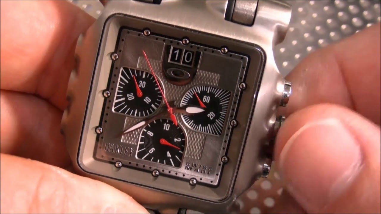 How To Reset Oakley Minute Machine Chronograph Hands Youtube Fuse Box Manual