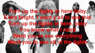 All Of The Lights-Kanye West, Rihanna, Fergie, Kid Cudi, Alicia Keys, Elton John-Lyrics On Screen