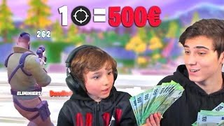 Mein Kleiner Bruder kriegt 500€ Pro Kill in Fortnite..