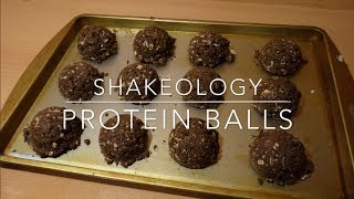 Shakeology Recipes: Chocolate Peanut Butter Protein Balls