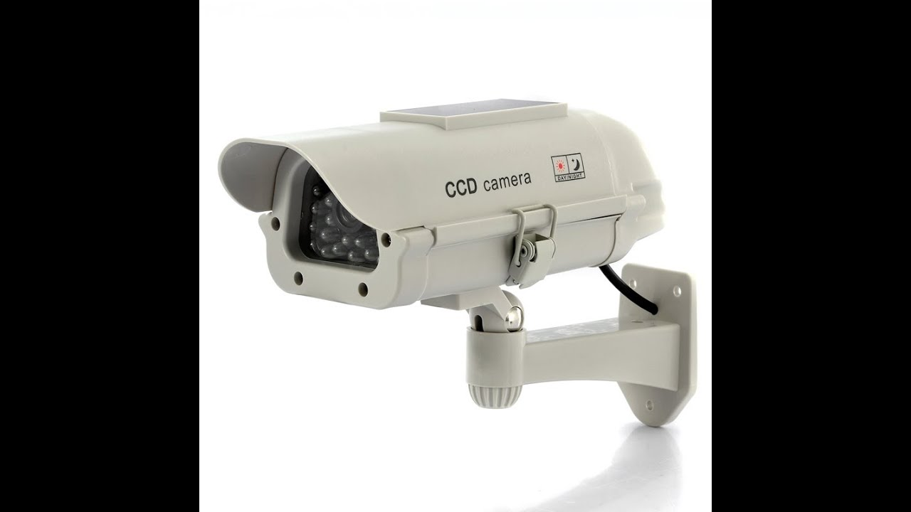 Camara falsa de seguridad cctv recarga baterias con luz - Camaras de seguridad falsas ...