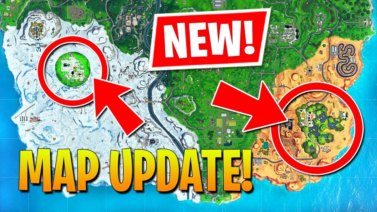 NEW UPDATE MAP CHANGES - GREASY GROVE & MOISTY MIRE!! (Fortnite Battle Royale) thumbnail