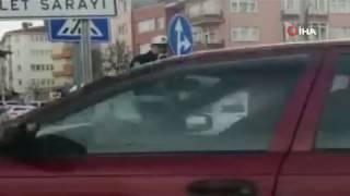 Trafik Polisi ceza için ilginç yöntem buldu