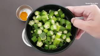 BHINDI/OKRA  MASALA FRY WITH OLIVE OIL RECIPE BY VINKLE THOMAS