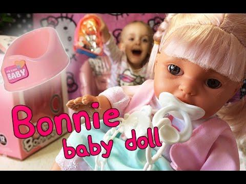 Функциональный пупс, умеющий пить, писать, сосать соску (baby doll,. Купить. Озвученная кукла пупс с набором для кормления, 48 см (falca, 48081 ).