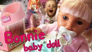Открываем куклу пупс Bonnie baby doll Писающая кукла Кукла с горшком