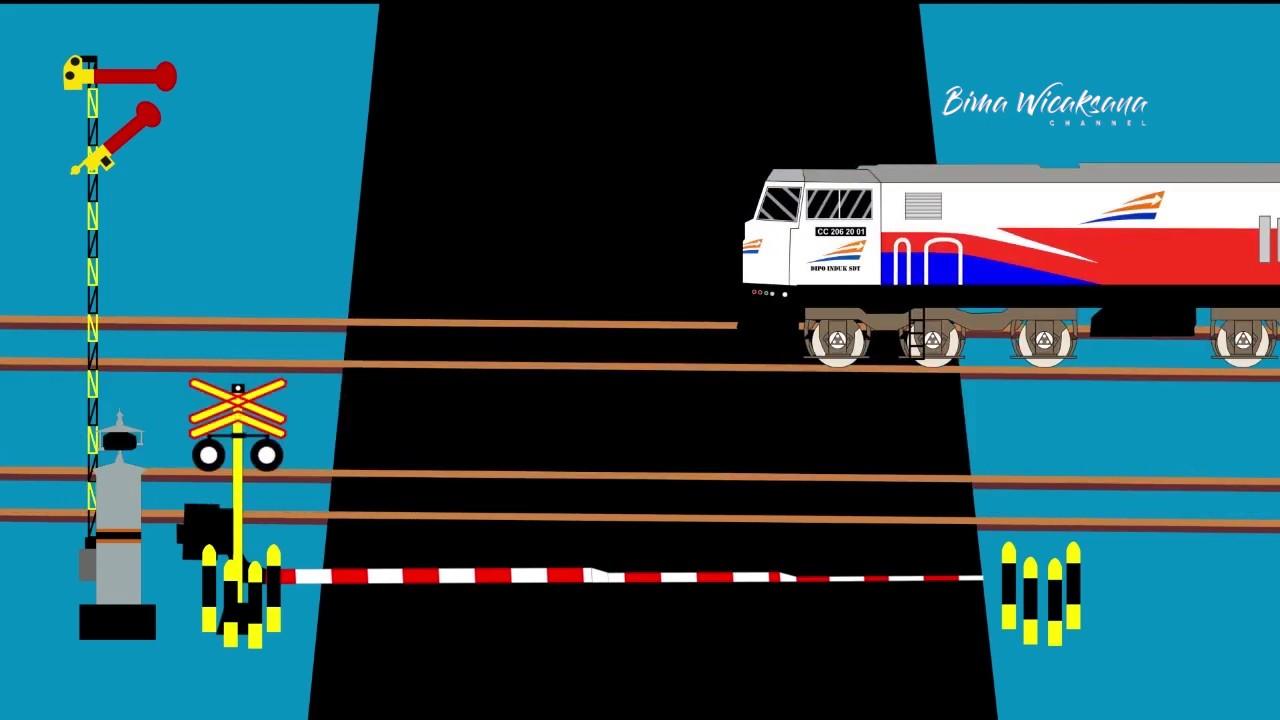 Download Animasi Perlintasan Kereta Api Indonesia Ep.1 : Palang Perlintasan dengan 2 Alarm