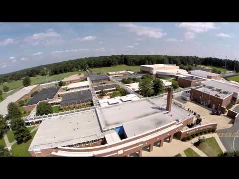 Flying over Piedmont High School in Union County NC