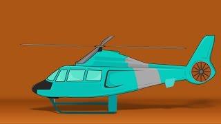 Hubschrauber | cartoon-Fahrzeuge für Kinder | PKW