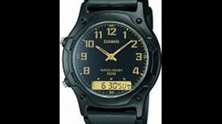 casio men s analogue digital watch aw 49h 1bvef with resin combi strap