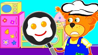 Lion Family | Pretend Princess & playing in Restaurant with Kitchen Toys | Cartoon for Kids