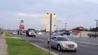 Mack R685 dump truck, Ford L8000 dump truck and White/GMC Volvo WCA dump truck