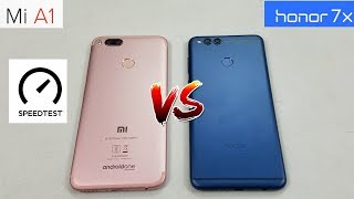 [4K] Honor 7X VS Xiaomi Mi A1 - Speedtest & Comparison (In Hindi)