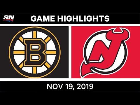 NHL Highlights | Bruins vs Devils - Nov. 19, 2019