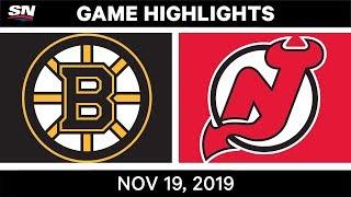 NHL Highlights   Bruins vs Devils - Nov. 19, 2019
