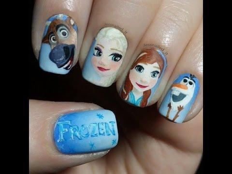 Cartoon Characters Nail Art - Cute and Funny Nails - Cartoon Characters Nail Art - Cute And Funny Nails - YouTube