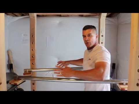 DIY Power Rack Dip Station
