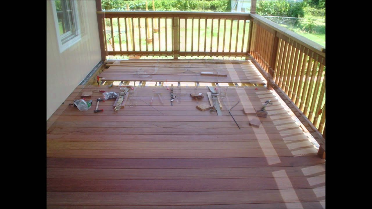 Installing the Cumaru 5 4 x 6 deck boards from Advantage Lumber
