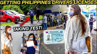 GETTING OUR FILIPINO DRIVERS LICENSE! Driving Test in Manila So Different to UK