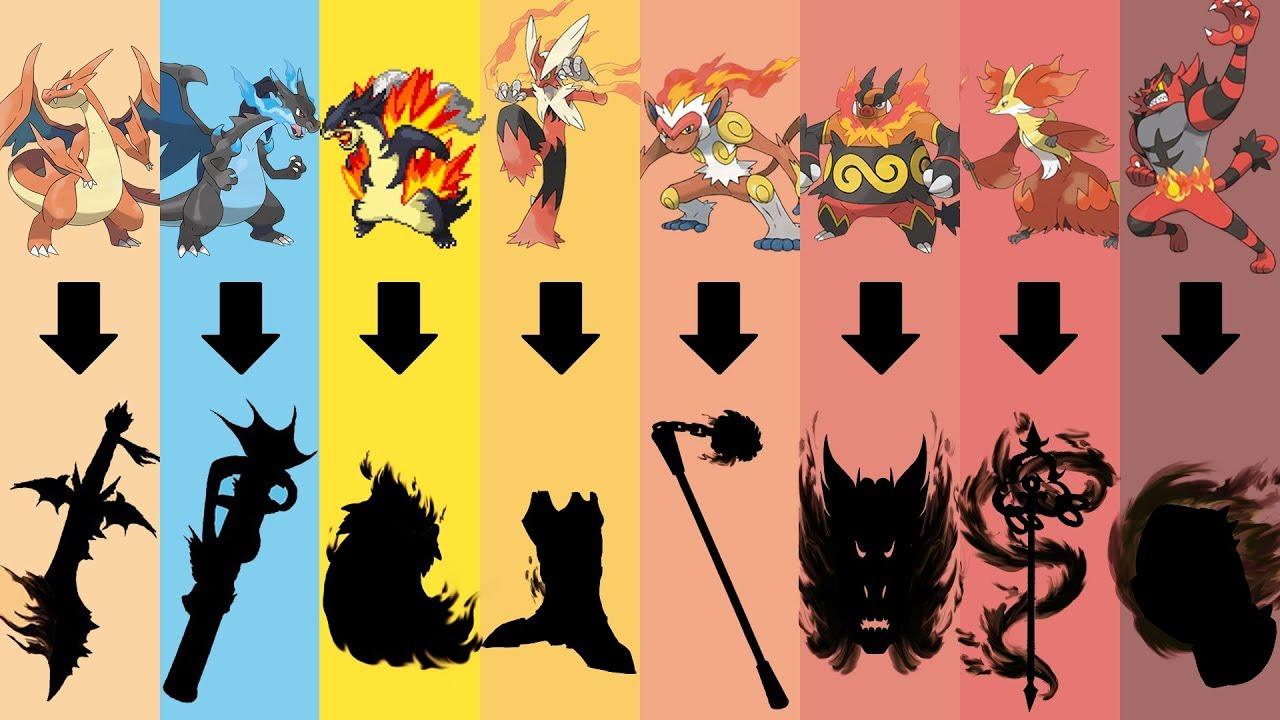 pokemon as weapons requests 29 all fire type starters pokemon gen