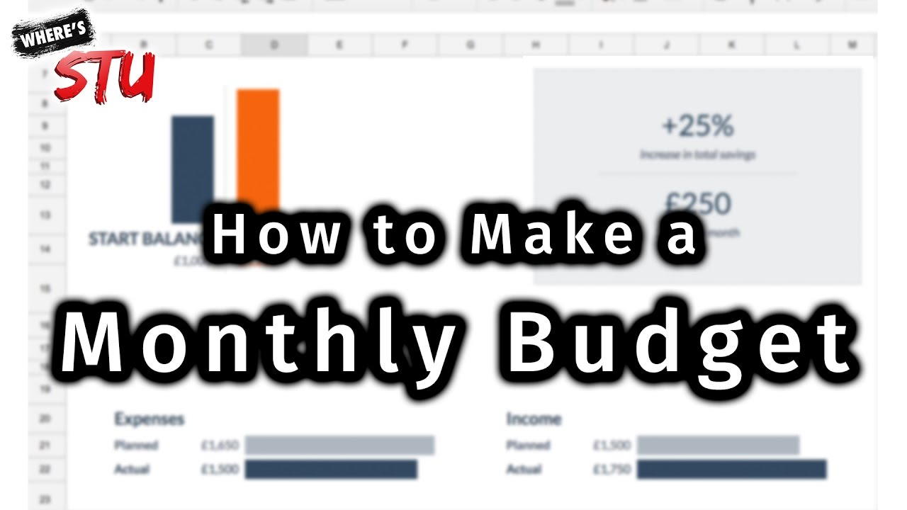how to make a monthly budget in google sheets youtube