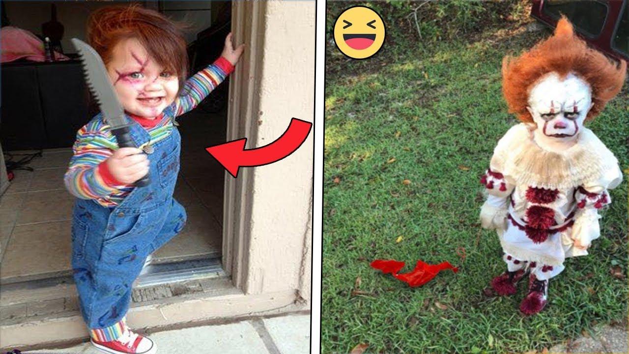 10 Disfraces De Halloween Terroríficos En Niños Youtube