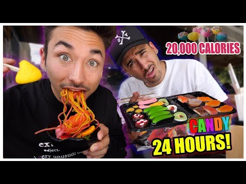 I Only Ate Candy Food For 24 Hours ... (IMPOSSIBLE FOOD CHALLENGE) *20,000 Calories*